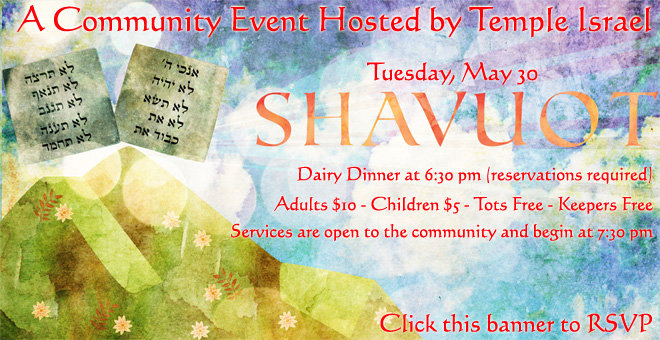 Shavuot Community Event Hosted by Temple Israel