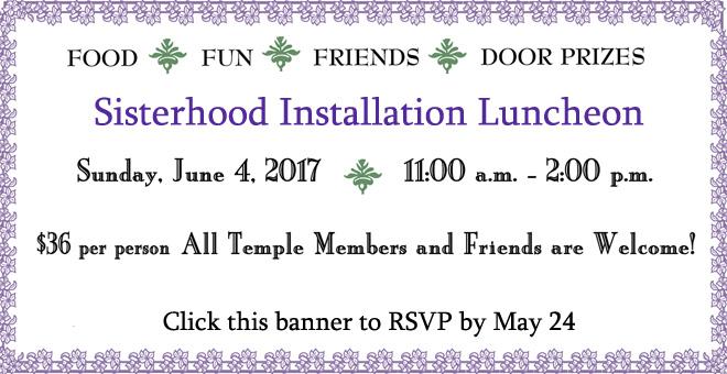 Sisterhood Installation Luncheon 2017