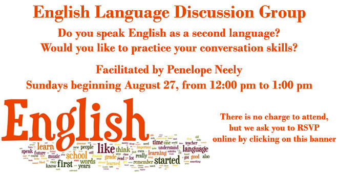 English Language Discussion Group at Temple Israel