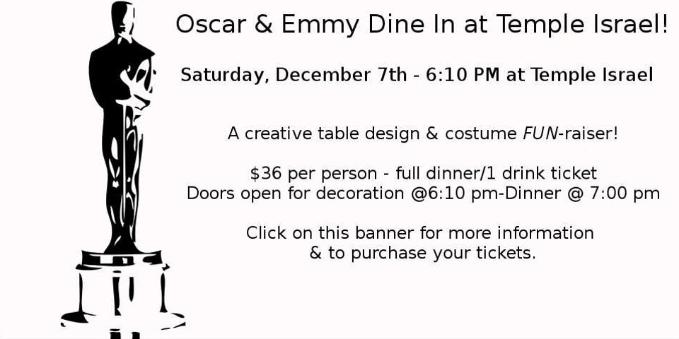 Oscar & Emmy Dine In at Temple Israel