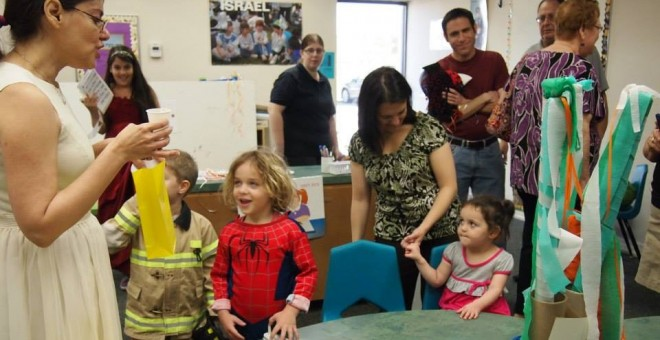 Purim Tot and Family Program at Temple Israel - 2014